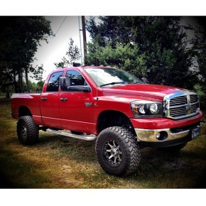Nice Lifted Red Cummins