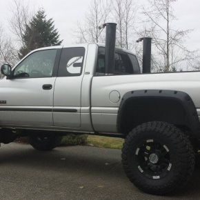 Silver Cummins with Stacks
