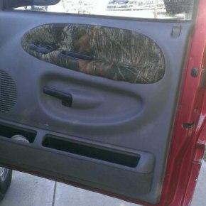 DIY camo door panels