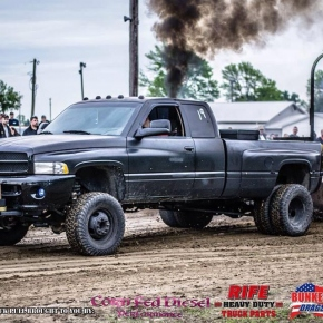 Black Cummins Truck Pull