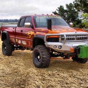 Big BAd Dodge Pulling Truck