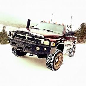 Dodge Ram Cummins Diesel Truck Winter Scene