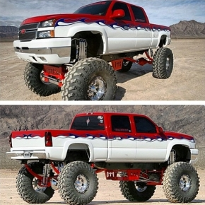 Chevy Duramax Lifted Diesel Truck
