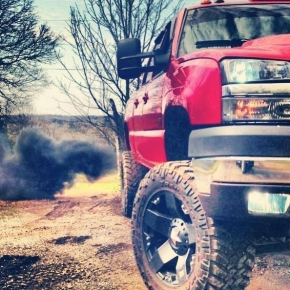 red duramax flexin