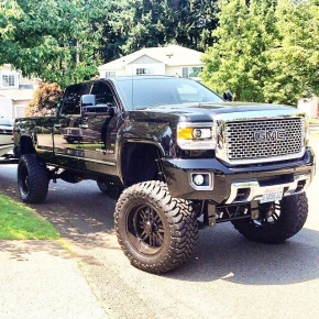 Black chevy duramax lifted