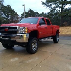 Chevy Duramax Diesel Truck in Red