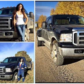 Real girl and real truck!