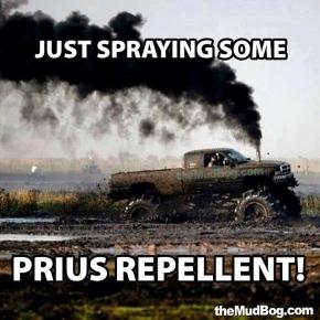 Prius Repellant Meme Rolling Coal Diesel Truck