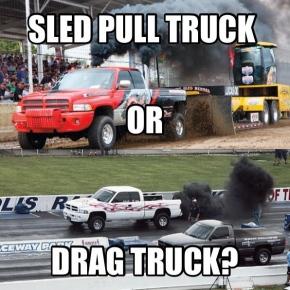 Pull or Drag Truck Meme