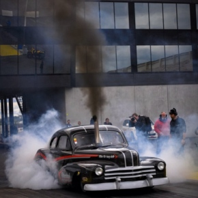 cummins diesel burnout Rat Rod
