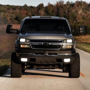 Chevy Duramax Diesel Truck Rolling Coal
