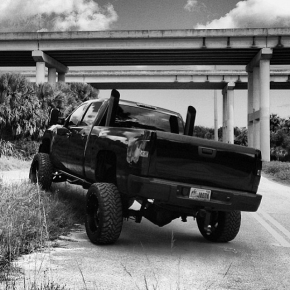 Stacked Duramax Diesel Truck Blacked Out