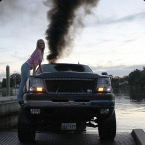 Boat Launch Girl and Truck