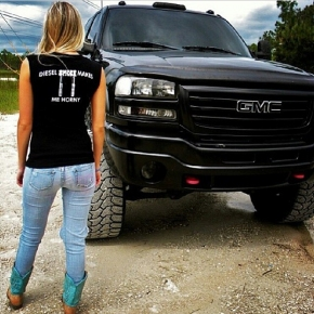 girl and durmamx diesel smoke shirt