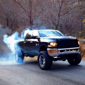 diesel doing a burnout