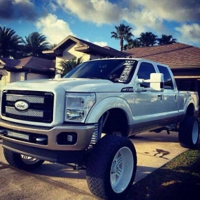 Ford Power Stroke Diesel Performance Truck- Lifted, Wheels, Chipped, Stacks