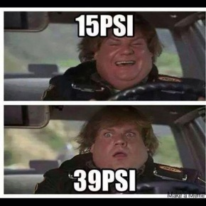 15 psi to 39 psi
